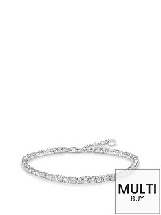 thomas-sabo-sterling-silver-cubic-zirconia-tennis-braceletnbspplus-free-diamond-bracelet