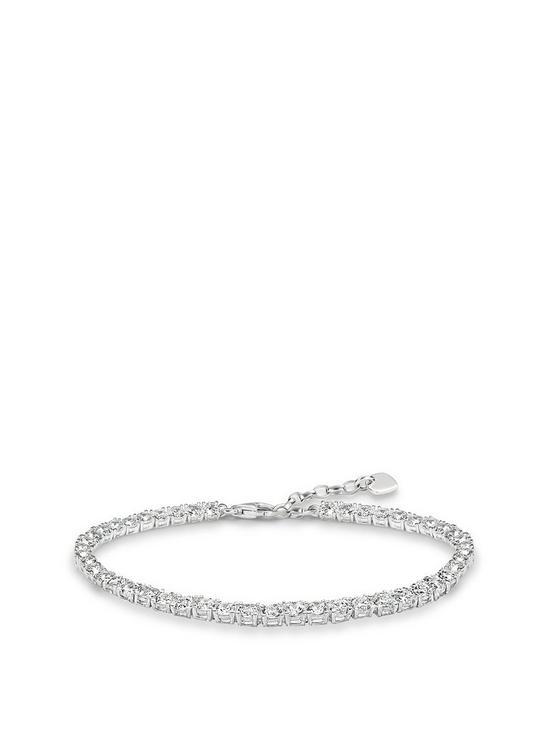 e18598d9bd7 Thomas Sabo Sterling Silver cubic zirconia tennis bracelet | very.co.uk