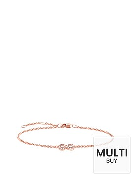thomas-sabo-sterling-silver-rose-gold-plate-diamond-set-infinity-bracelet-plus-free-diamond-braceletbr-br