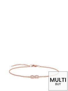 thomas-sabo-sterling-silver-rose-gold-plate-diamond-set-infinity-braceletnbspplus-free-karma-bead-bracelet