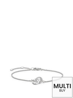 thomas-sabo-sterling-silver-diamond-set-together-forever-braceletnbspplus-free-diamond-bracelet