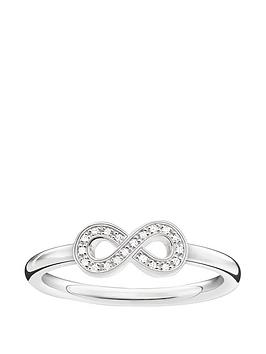 thomas-sabo-sterling-silver-diamond-set-infinity-ring