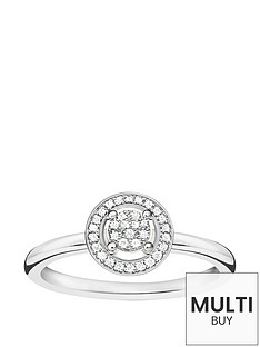 thomas-sabo-sterling-silver-diamond-set-halo-ringnbspplus-free-diamond-bracelet