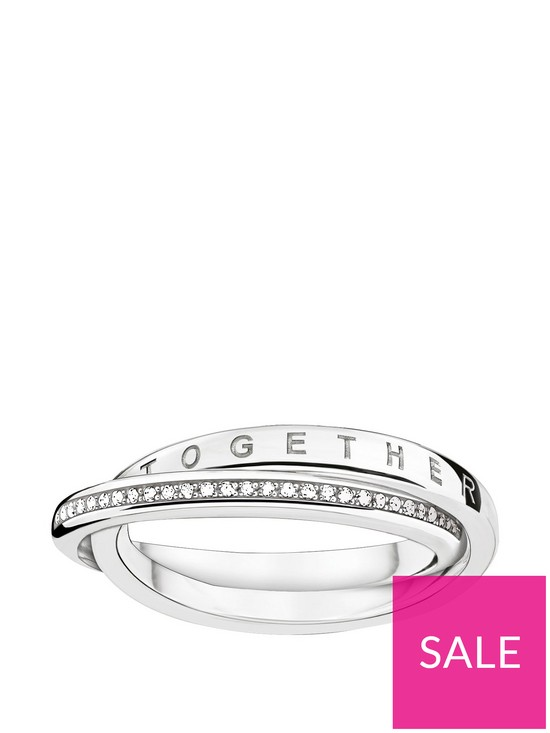 a7f19e0b22d Thomas Sabo Sterling silver diamond set together forever ring | very ...