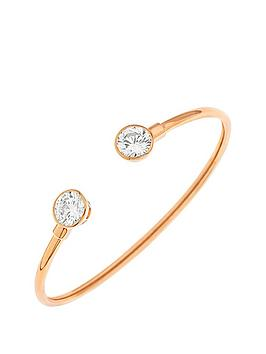 love-silver-sterling-silver-with-rose-gold-plating-cubic-zirconia-flexi-cuff