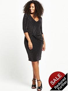so-fabulous-curve-knot-front-metallic-dress