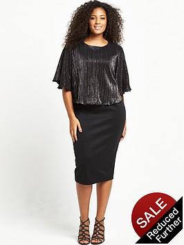 so-fabulous-curve-plisse-cape-scuba-midi-dress