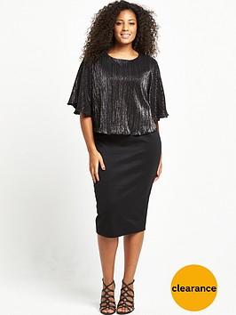 v-by-very-curve-curve-plisse-cape-scuba-midi-dress
