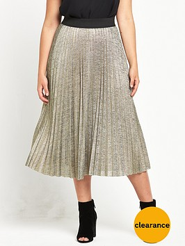 v-by-very-curve-curve-metallic-pleated-skirt