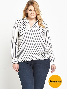 v-by-very-curve-striped-wrap-front-blouse