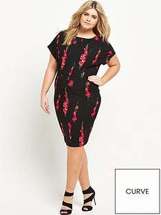 v-by-very-curve-crepe-short-sleeve-midi-dress