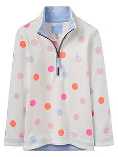 joules-girls-half-zip-spot-sweat-top