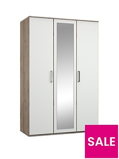 Ashdown 3-door Mirrored Wardrobe