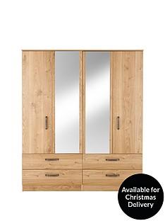 ashdown-4-door-4-drawer-mirrored-wardrobe