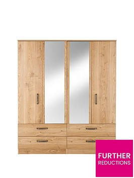 ashdown-4-door-4-drawer-mirrored-wardrobe