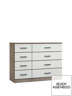 Ashdown Ready Assembled 4 + 4 Drawer Chest