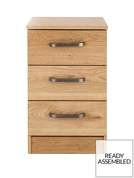 ashdown-ready-assembled-3-drawer-bedside-chest