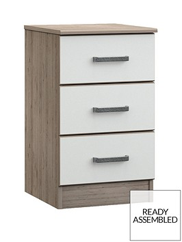 ashdown-ready-assembled-3-drawer-bedside-chest