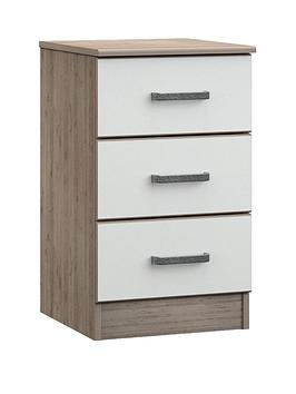 Ashdown Ready Assembled 3-Drawer Bedside Chest