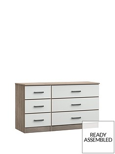 Ashdown Ready Assembled 3 + 3 Chest of Drawers