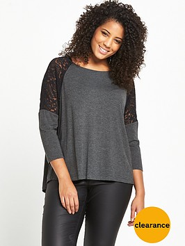 v-by-very-curve-lace-panel-drop-shoulder-jersey-top