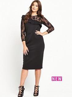 so-fabulous-curve-ruffle-detail-lace-slv-dress