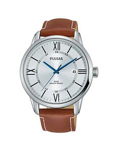 pulsar-pulsar-silver-tone-dial-tan-leather-strap-mens-watch