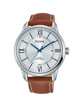 pulsar-pulsar-silver-tone-dial-tan-leather-strap-mens-watch