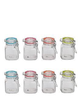 sabichi-clip-top-8-piece-glass-canister-set