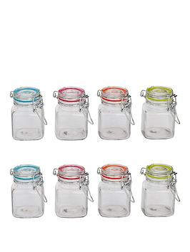 sabichi-clip-top-8-piece-glass-cannister-set