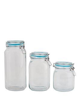 sabichi-large-clip-top-3-piece-glass-cannister-set