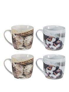 sabichi-set-of-4-kitten-and-puppy-mugs