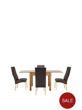 87-174-cm-square-to-rectangle-dining-table-4-buckingham-chairs-buy-and-save