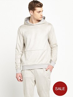 river-island-sueded-jersey-hooded-top