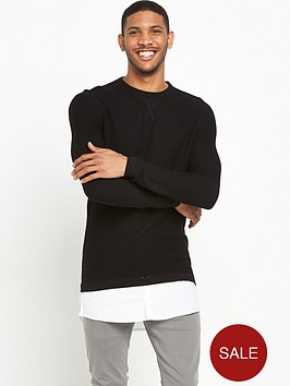 river-island-shirt-layered-knitted-jumper