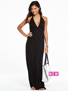 v-by-very-jersey-halter-neck-maxi-beach-dress