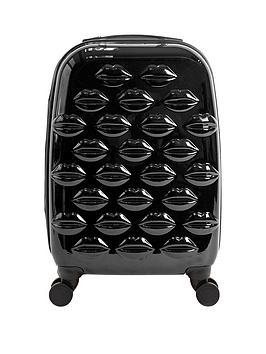 lulu-guinness-hard-sided-4-wheel-cabin-case-black