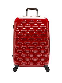 lulu-guinness-hard-sided-4-wheel-medium-case-red
