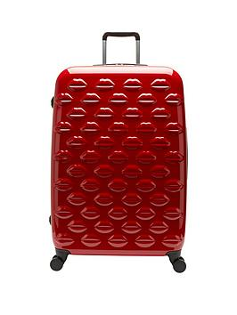 lulu-guinness-hard-sided-4-wheel-large-case-red