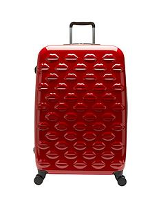 lulu-guinness-lips-4-wheel-spinner-large-case