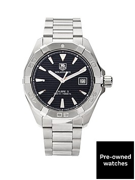 tag-heuer-tag-heuer-preowned-aquaracer-blackcharcoal-dial-reference-way2110-mens-watch-including-paperwork