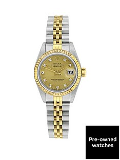 rolex-rolex-bimetal-datejust-original-champagne-diamond-dial-reference-69173-ladies-watch