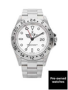 rolex-rolex-preowned-explorer-ii-white-dial-reference-16570-mens-watch-including-paperwork