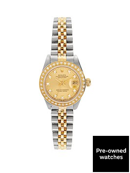 rolex-rolex-preowned-bimetal-datejust-original-champagne-diamond-dial-aftermarket-diamond-bezel-reference