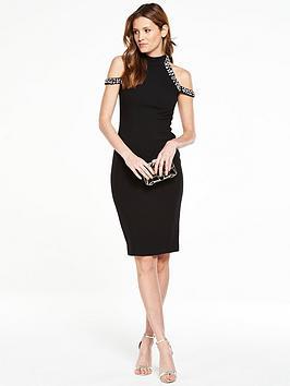 v-by-very-premium-embellished-cold-shoulder-dress