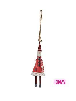 gisela-graham-tin-cone-new-england-santa-christmas-tree-decoration