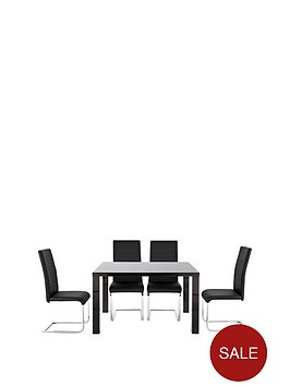 atlantic-fixed-top-gloss-table-amp-4-jet-chairs-buy-and-save