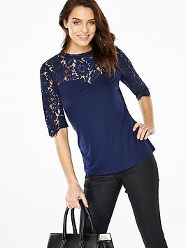 v-by-very-corded-lace-yoke-34-sleeve-topnbsp