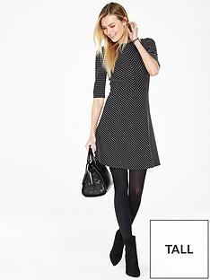 v-by-very-tall-structured-stripe-skater-dress
