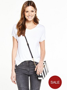 v-by-very-drapey-v-neck-t-shirt